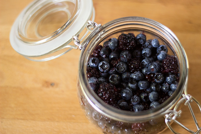 Small Blackberry Blueberry Rumtopf | The Kitchen Maus