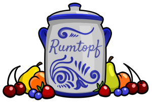 Small Apricot Rumtopf - Drawing