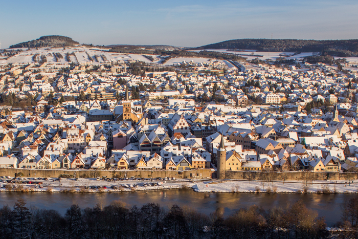 New Years Cooking Resolutions - Karlstadt am Main in the Snow