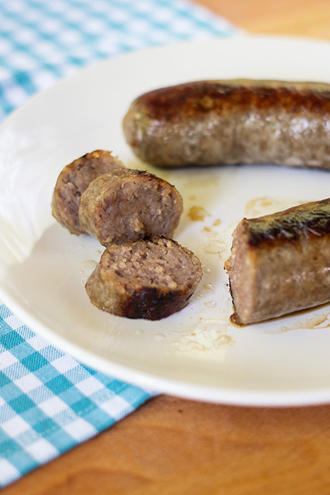 Pan Fried Bratwurst - The Kitchen Maus
