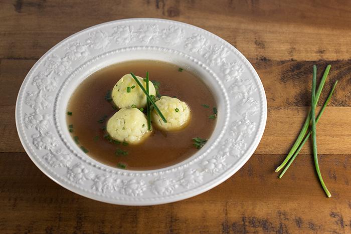 Semolina Dumpling Soup (Griessnockerlsuppe)   The Kitchen Maus