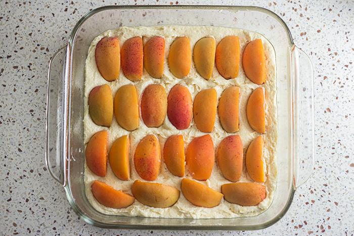 Fresh Apricot Cake (Aprikosenkuchen) by the Kitchen Maus